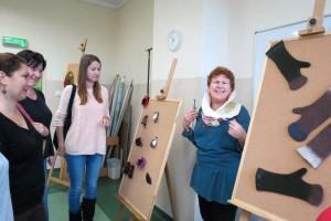 """Wystawa """"Białoruska sztuka ludowa""""  z artystką Hanną Korolevą"""